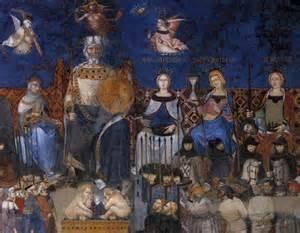 Siena. Allegorie van goede regering