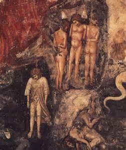 Giotto Scrovegnikapel, Assisi.jpg, hebzucht