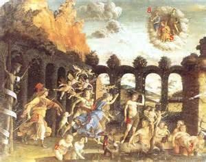 Mantegna 1502. Uitdrijving van de ondeugden